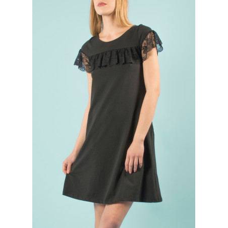 Black pinafore lace Oceane dress
