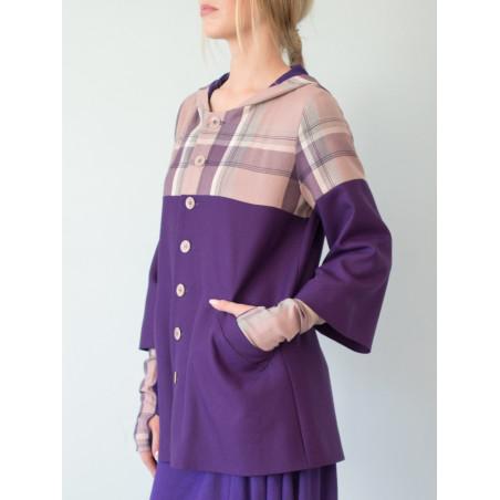 Victoria Purple Tartan Coat