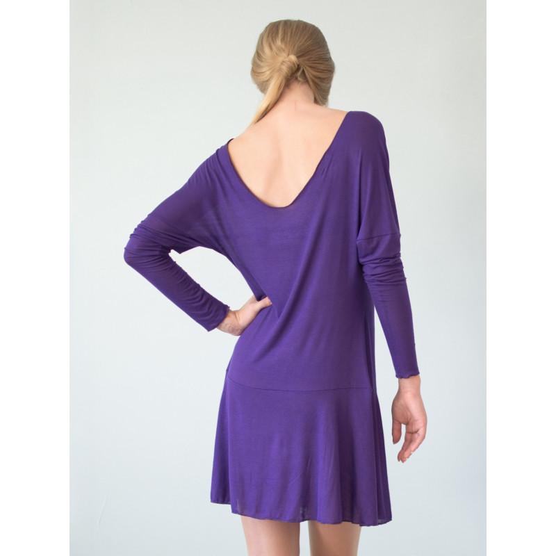 robe ath na dos nu en bambou violet petite et grande taille. Black Bedroom Furniture Sets. Home Design Ideas