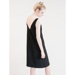 Robe dos nu Maria noire sans manches