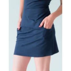 Umi organic navy mini skirt