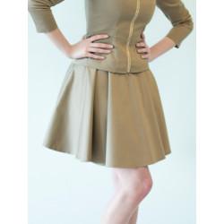 Organic khaki Clara suit skirt