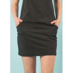 Umi organic black mini skirt