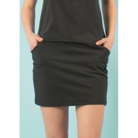 Umi organic black mini skirt