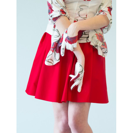 Organic red Clara suit skirt