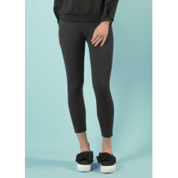 Long yoga pants in black organic cotton