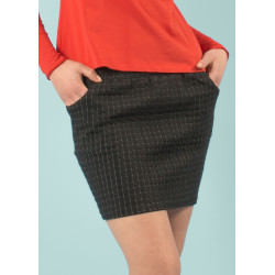 Umi organic quilted black mini skirt