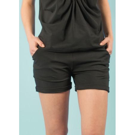 Gali shorts in black organic cotton