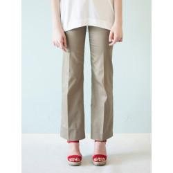 Organic khaki Charlotte suit pants