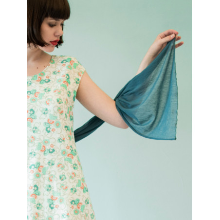 Organic blue scarf