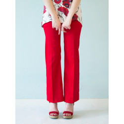 Pantalon tailleur Charlotte rouge