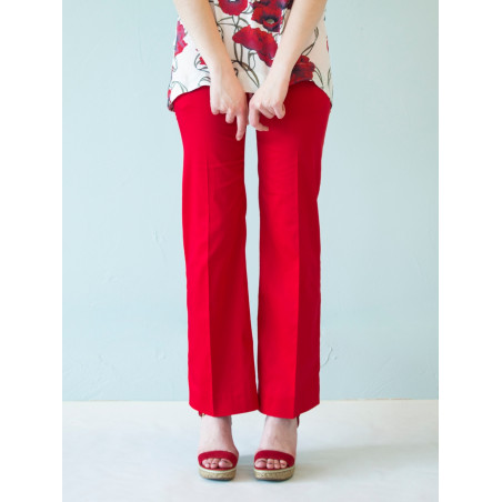 Organic red Charlotte suit pants