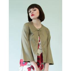 Organic khaki Sigyn suit jacket