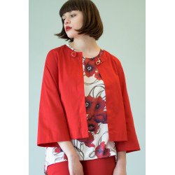 Veste tailleur Sigyn rouge