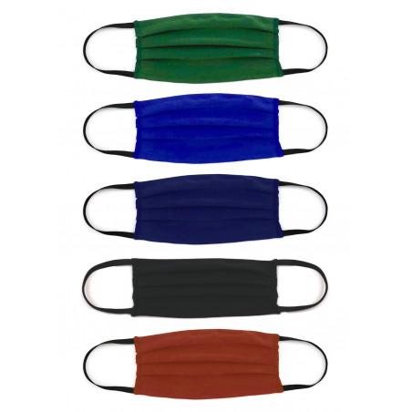 Masque en coton bio uni extensible noir ou coloré