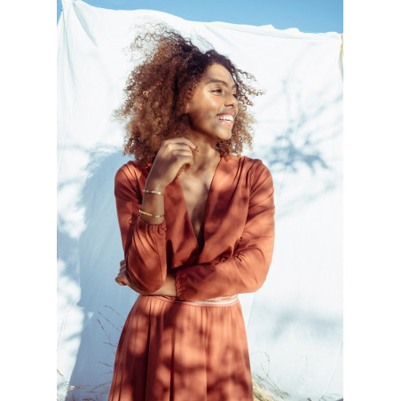 Robe longue en coton bio Terracotta Soho