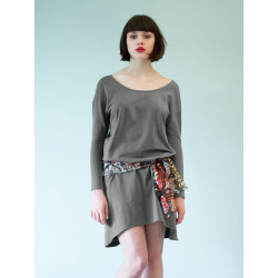 Organic grey chasuble Boheme dress