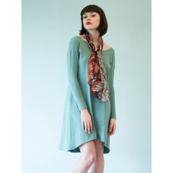 Organic turquoise-blue Boheme dress