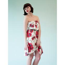 Poppy red flowery bamboo Lolita dress