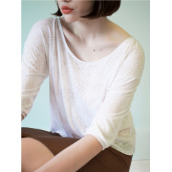 Organic white Bloom top
