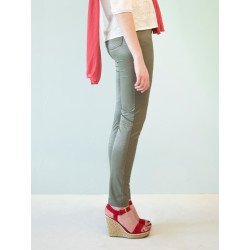 Organic khaki Julie slim pants