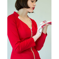 Organic red Charline suit jacket