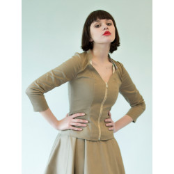Organic khaki Charline suit jacket