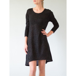 Black Glittered Boheme Jumper dress