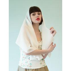 Foulard blanc en coton bio