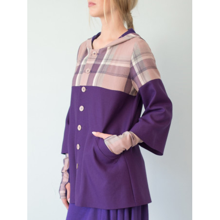 Victoria Purple Tartan Coat