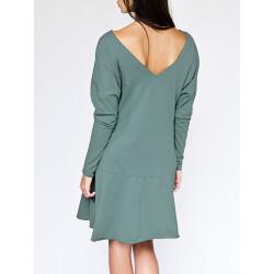 Robe dos nu bio Athéna Turquoise pastel