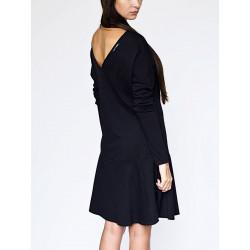 Athena Halter organic black dress