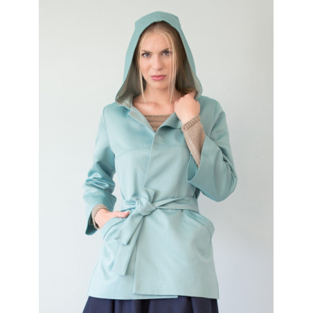 Victoria arctic blue trench coat