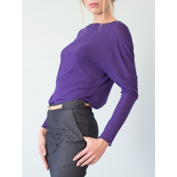 Organic purple backless Athena top