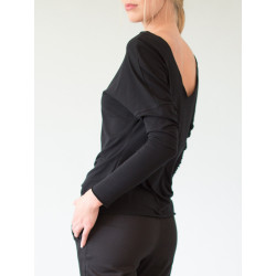 Black Organic backless Athena top