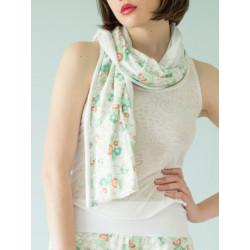Organic blue flowery scarf