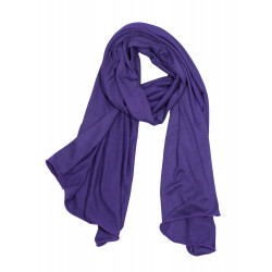 Purple bamboo scarf