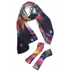 Galaxy scarf and fingerless gloves box