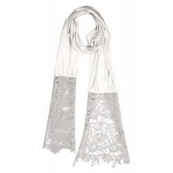 Echarpe en soie et laine macramé