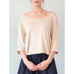 Top Bloom beige irisé
