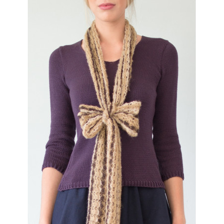 Organic purple Clara jumper