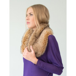 Faux fur snood collar