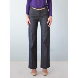 Pantalon tailleur en jean bio Charlotte