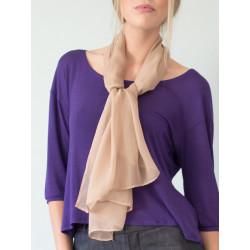 Nude silk scarf