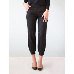 Organic black gabardine Nathalie pants
