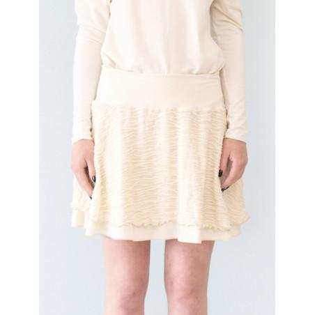 Organic ecru Carmen short skirt