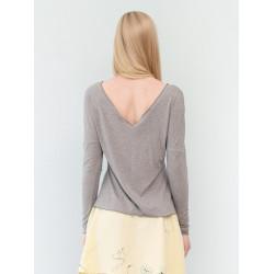 Heather marl grey backless Athena top