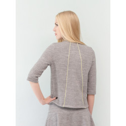Casual sweatshirt in organic sweater knit marl grey Lucia