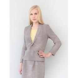 Short jacket Ines in organic sweater knit marl grey