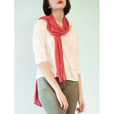 Organic pink scarf